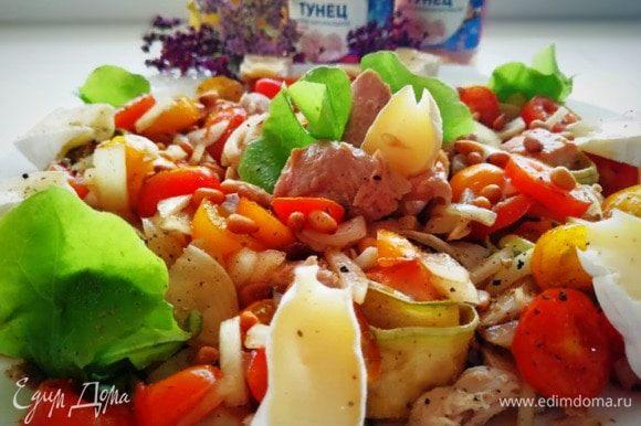 Вот такой яркий, очень вкусный салат получился.