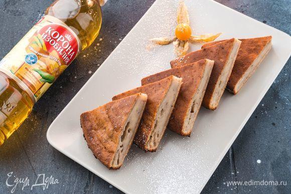 Готовый хлеб достаньте из духовки и оставьте в форме на 10 минут, затем аккуратно извлеките из формы и остудите на решетке. Приятного аппетита!