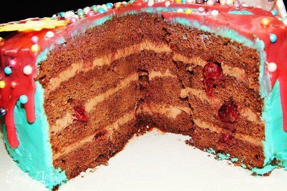 Тортик в разрезе. Приятного аппетита!