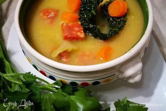 Шелковистый суп готов.