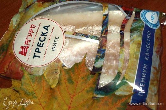 Филе трески ТМ «Магуро» заранее разморозить, как указано на упаковке производителя.