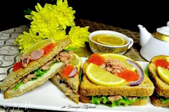Заварите ваш любимый чай (у меня зеленый), и можете наслаждаться вкуснейшим бутербродом.