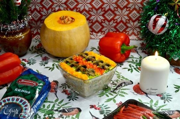Украшаем салат по-новогоднему ярко и красиво!