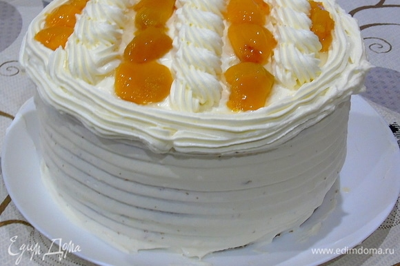 Вот такой высоты вышел наш тортик.