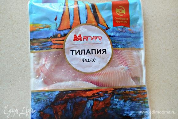 Тилапию ТМ «Магуро» необходимо полностью разморозить на нижней полке холодильника.