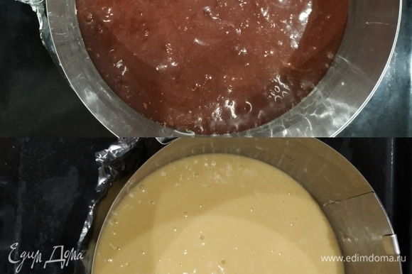 Выливаем в формы и отправляем выпекаться в разогретую до 200°C духовку на 30 минут.