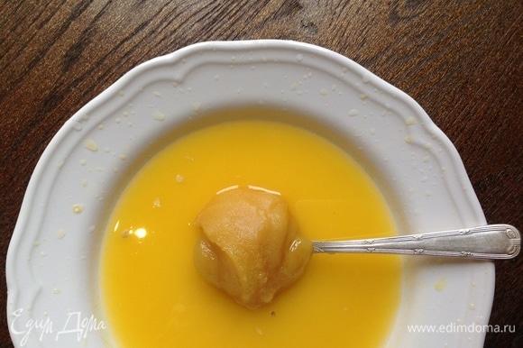 В сок добавить мед.
