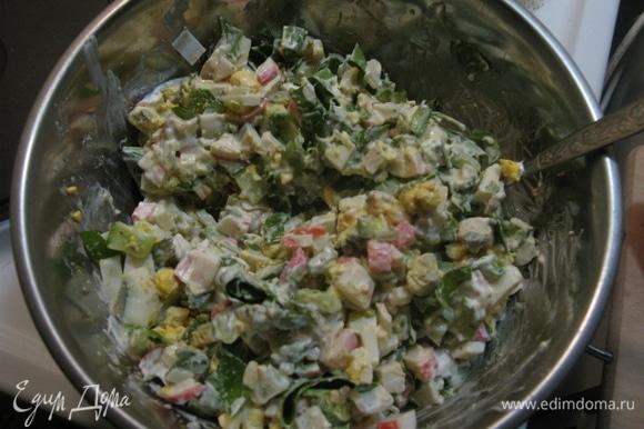 Мисочка нежирного, но очень богатого на белки и протеины салатика у вас на столе!