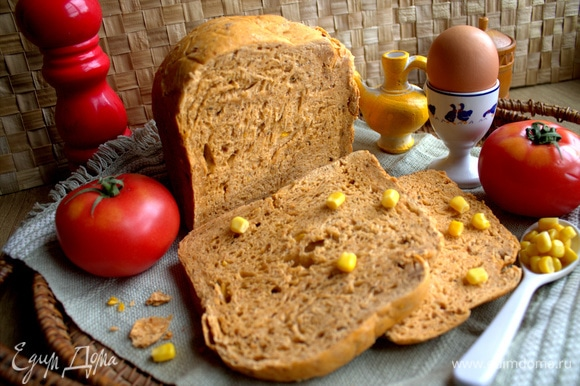 В следующем рецепте покажу еще вариант завтрака с этим хлебом.