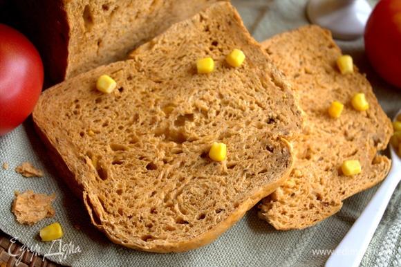 Хлеб подержать в тостере по желанию. Я взяла свой домашний: https://www.edimdoma.ru/retsepty/128659-hleb-na-tomatnoy-paste-s-sushenym-lukom.