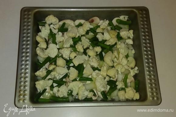 И затем слой цветной капусты.
