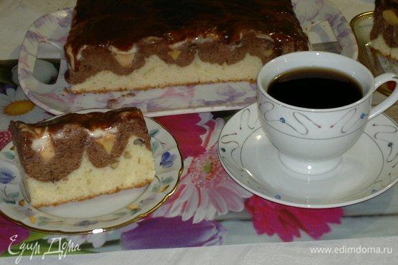 Подать пляцок к чаю или кофе.