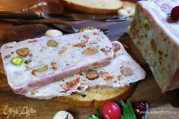 Очень вкусно с подсушенным хлебом и горчицей.