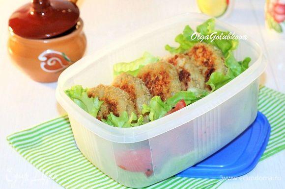 Куриные котлеты с кабачком готовы. Подавайте их с любым гарниром и соусом по собственному вкусу. Можно подать такие котлеты в лепешке или в лаваше. Для этого на лепешку выложить по 1 ст. л. натурального йогурта или нежирной сметаны и 1 ст. л. кетчупа, сверху кладем котлету и любую зелень или овощи.