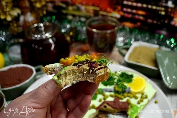 И каждому достанется неповторимый по наполнению и вкусу бутерброд! Это однозначно быстро, вкусно, красиво и весело!
