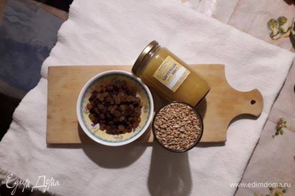 Продукты, из которых мы готовим сочиво, — это пшеница, изюм, мед.