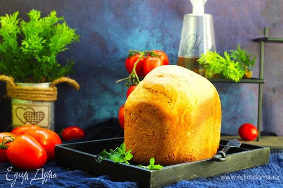Через 4 часа вынимаем приготовленный хлеб.