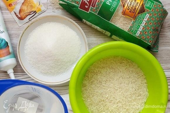А пока подготовим ингредиенты для рисового теста.