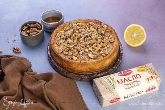 Медово-ореховый тарт готов!