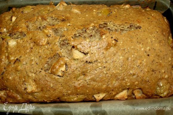 Отправляем в заранее разогретую до 180°C духовку на 40–50 минут. Ориентироваться на свою духовку. Готовность проверить бамбуковой палочкой. Готовый кекс достать из духовки. Остудить. Извлечь из формы.