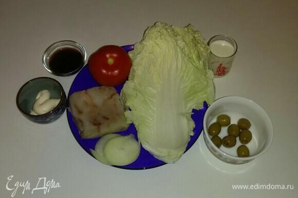 Вот все ингредиенты, которые понадобятся для приготовления этого блюда.