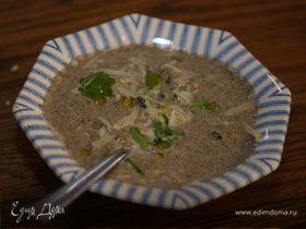 Суп из брокколи с грибами