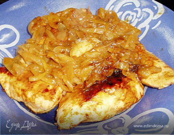 Курица-барбекю на сковородке