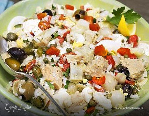 Салат из тунца с оливками