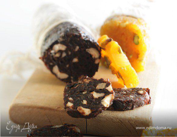 Десерт «Салями с черносливом и фундуком»