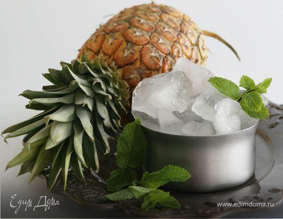 Ананасовое фраппе со свежей мятой
