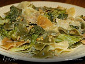 Салат из макарон с брокколи