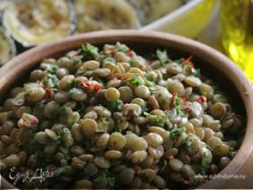 Салат с мятой и чечевицей