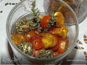 Салат из перца с фетой и помидорами