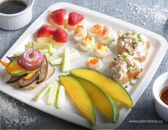 Цукини с салатным соусом