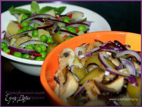 Картофельный салат с солеными огурцами, 2 варианта