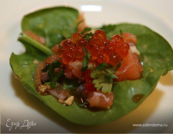 Тайская закуска с семгой