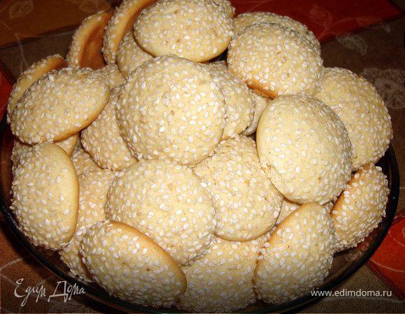Печенье домашнее с кунжутом