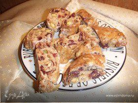 Клюквенно-фисташковые бисквиты