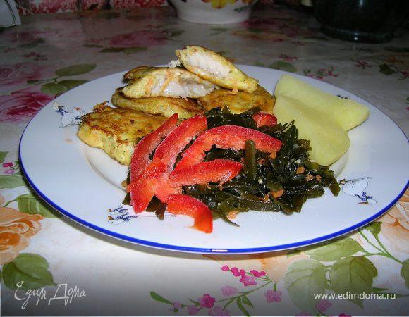 Рыба в кляре из брынзы и моркови