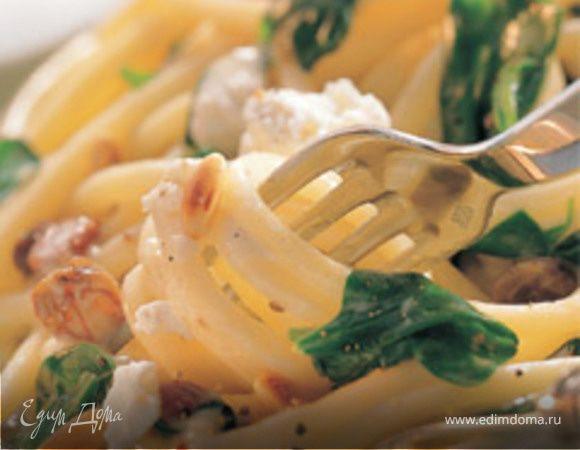 Макароны со шпинатом и рикоттой