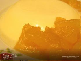 Панна котта с грушевым соусом