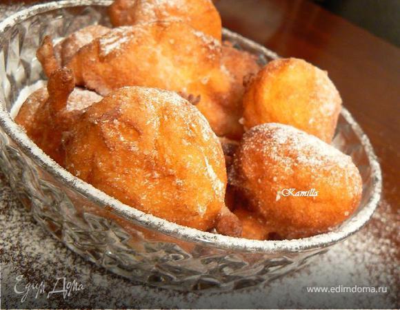 Fritelle di Ricotta e Rhum или пончики с творогом