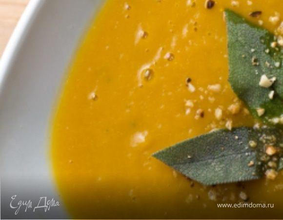 Тыквенный суп-пюре с орехами