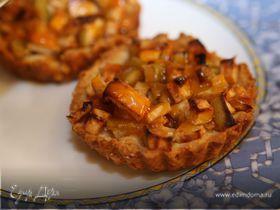 Деревенские галеты с яблоками и абрикосовым джемом