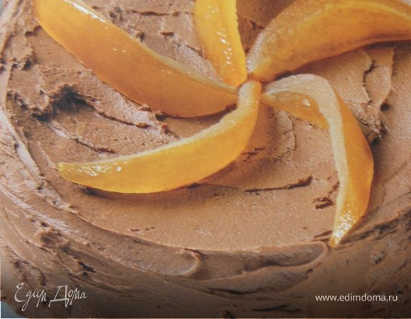 Мраморный торт с ароматом апельсина