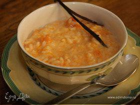 Рисовая каша с тыквой и ванилью