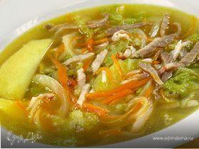 Суп с двумя видами капусты