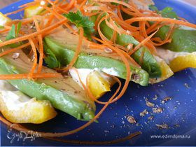 Ломтики авокадо с творожным сыром
