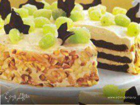 Миндальный торт с шоколадным бисквитом