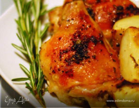 Пикантная курица с овощами